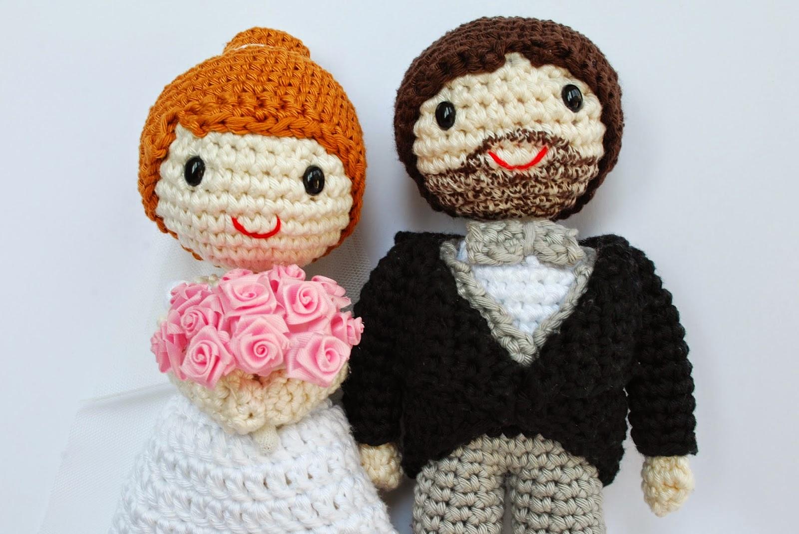Novios de amigurumi para bodas