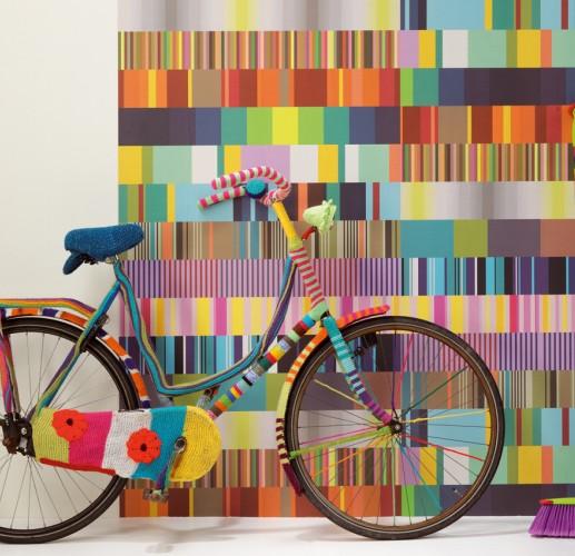 Muchas rayas papel pintado - Papel pared rayas ...
