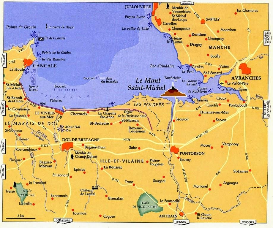 Mapa del Mont Saint Michel.