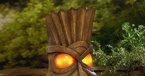 Kari Likelikes Solar Powered Tiki Head