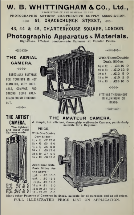 Screen grab of an advert from the book Half-holidays with the camera