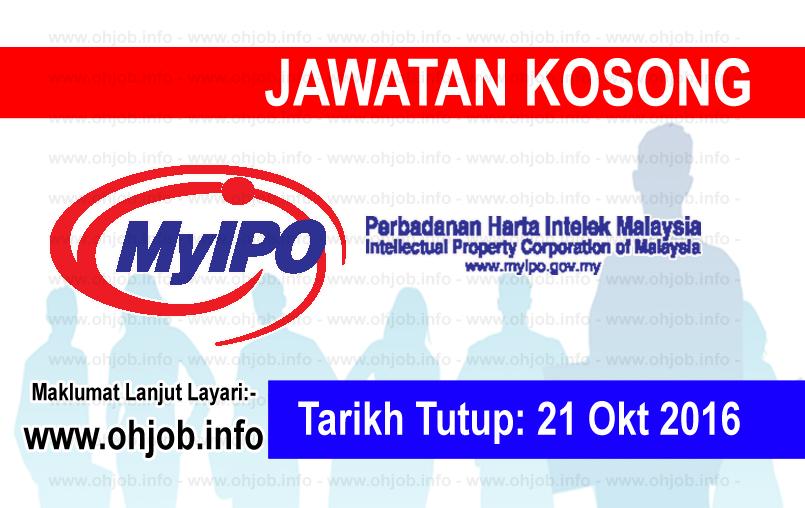 Jawatan Kerja Kosong Perbadanan Harta Intelek Malaysia (MyIPO) logo www.ohjob.info oktober 2016