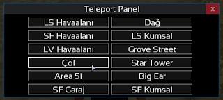 [MTA:SA] Teleport Panel [2019]