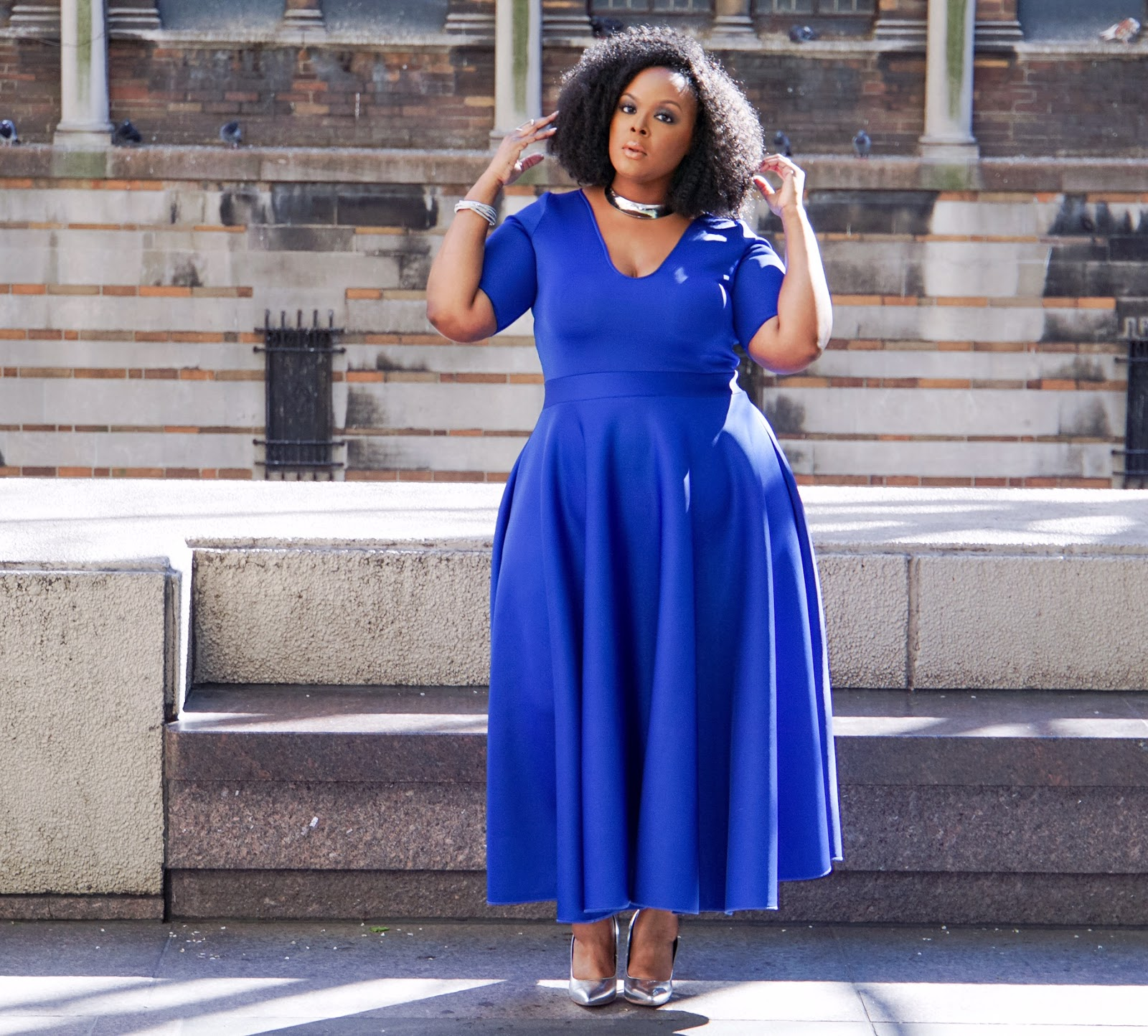 Electric Blue Plus Size Dresses – Fashion dresses