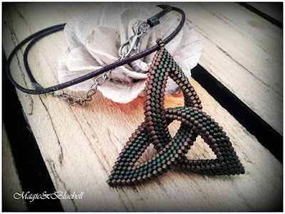 Celtic triangle pendant