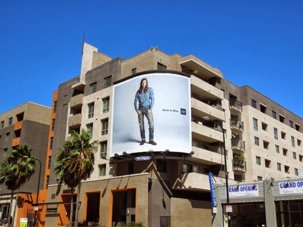 Gap Back to Blue male model billboard