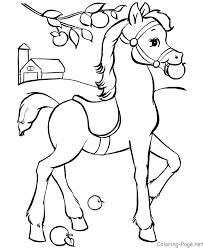 Printable Horse At Farm Coloring Pages Online