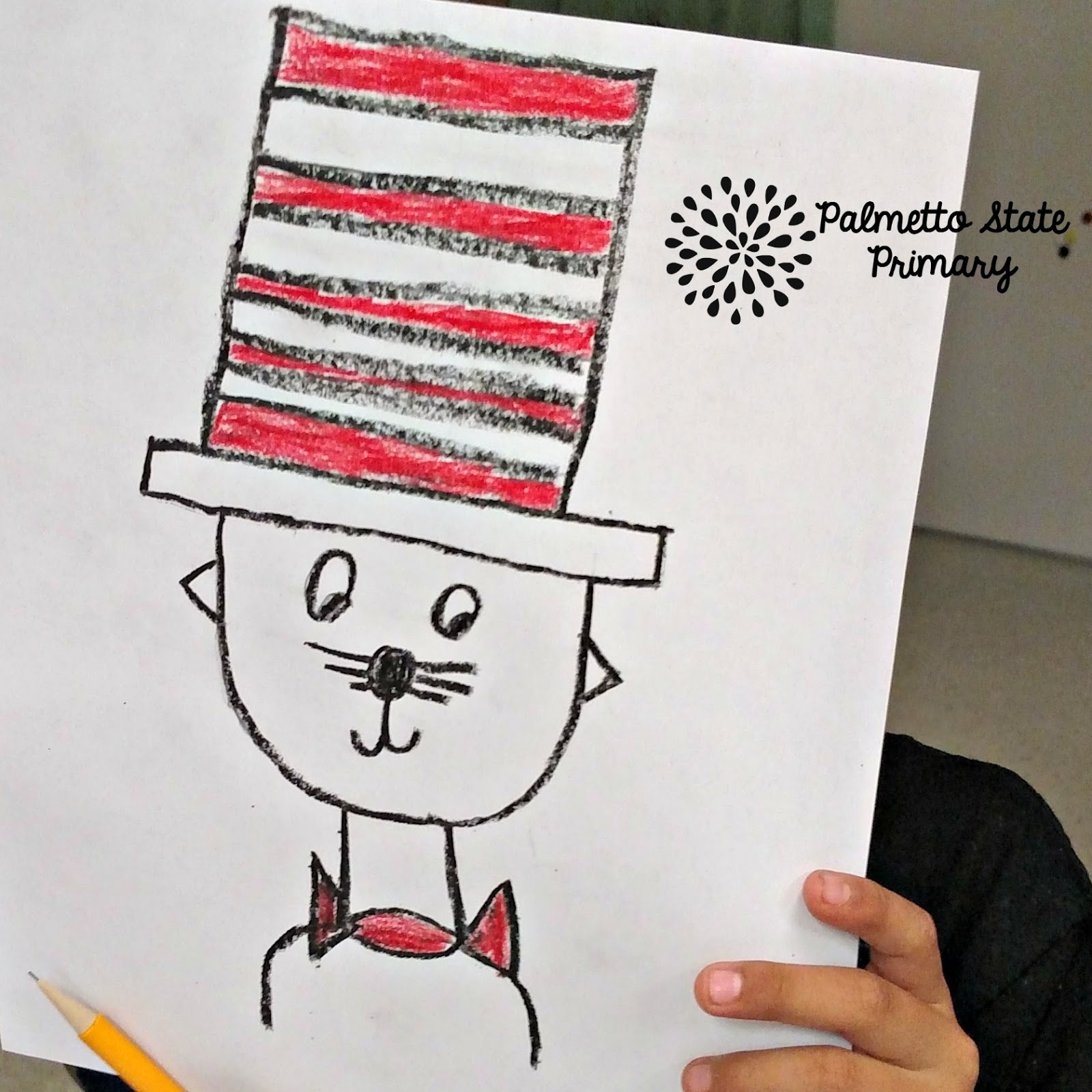 It is a picture of Gorgeous Cat In The Hat Directed Drawing