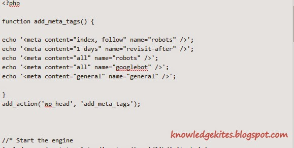 Add meta tags inside head tag