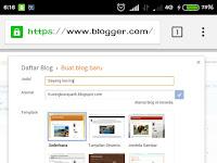 Tutorial Membuat Blog Menggunakan Smartphone Android