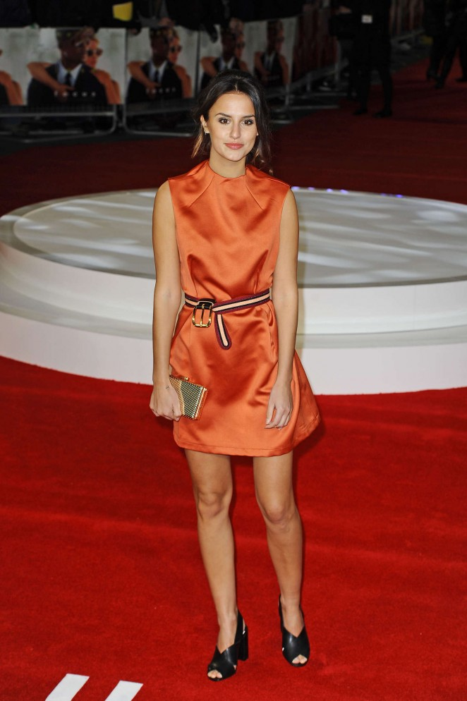 British Journalist Lucy Watson Legs Thighs In Orange Dress