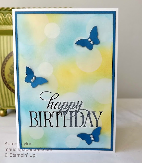 Stampin' Up! Bokeh card with butterflies