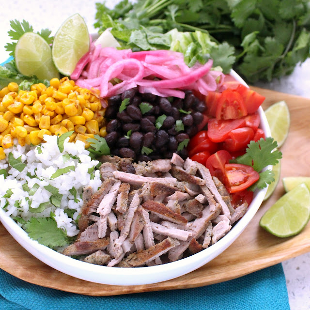 Carnitas Burrito Bowl from LoveandConfections.com #RealFlavorRealFast