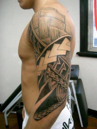 Este teste padrão de tecelagem tatuagem tribal