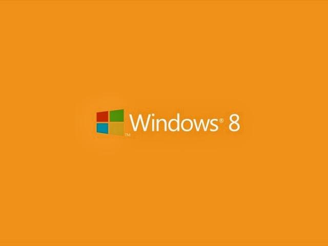 Orange Windows 8 Desktop Background