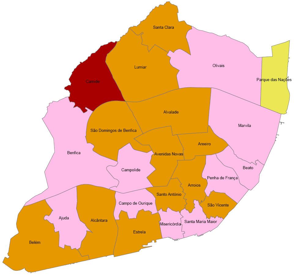 novo mapa de freguesias de lisboa Pequeno almoço em Lisboa: Contas Autárquicas novo mapa de freguesias de lisboa