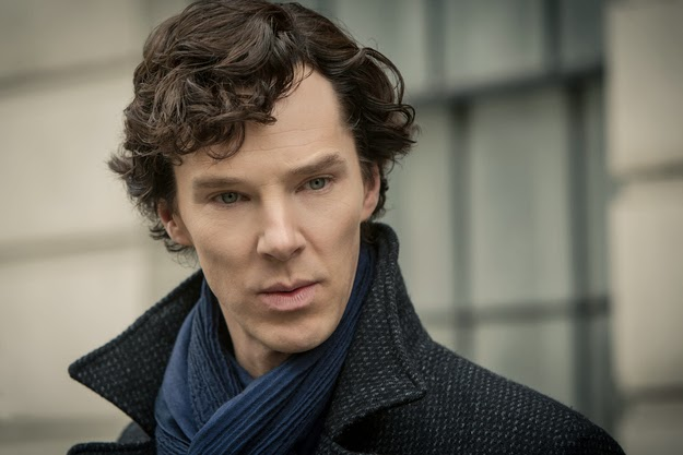 Benedict Cumberbatch as Sherlock Holmes in BBC Sherlock Season 3 Episode 1 The Empty Hearse
