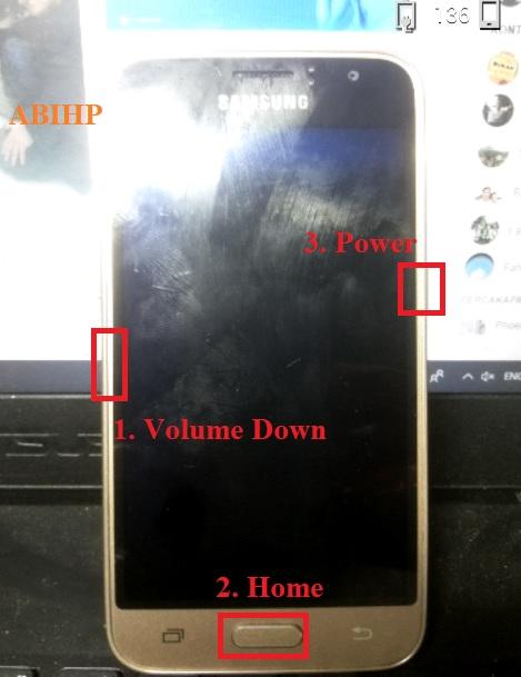 Cara masuk ke download mode Samsung j1 4g.