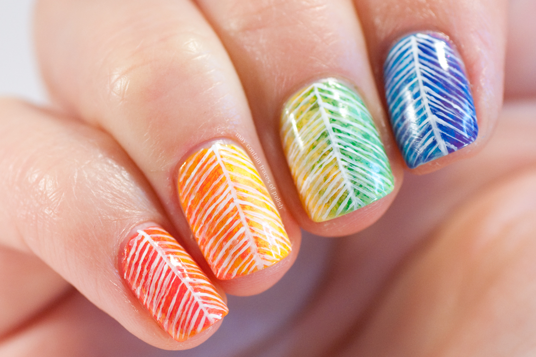 31 Day Challenge 2017: Day 9, Rainbow Nails - May contain traces of ...