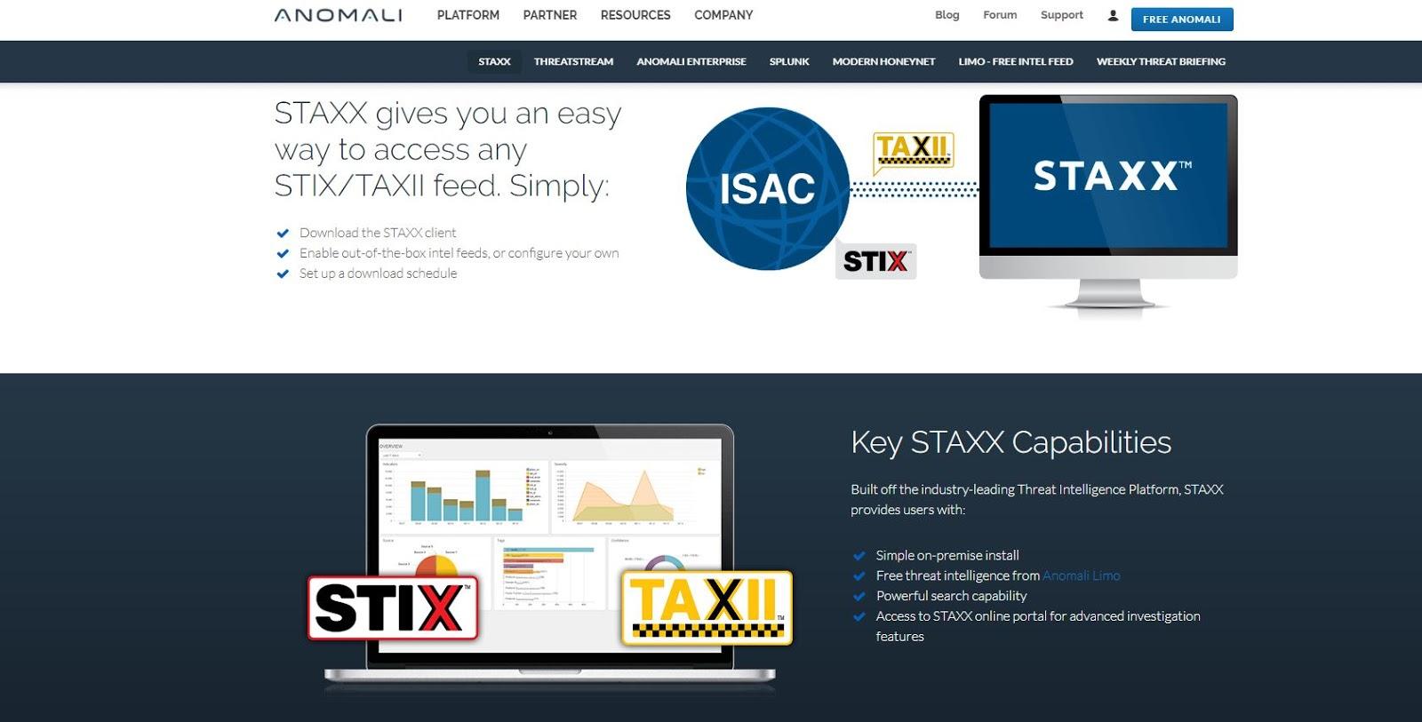 Threat Intelligence with Anomali STAXX