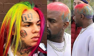Kenye West Mimic Tekashi 6ix9ine Rainbow Hair