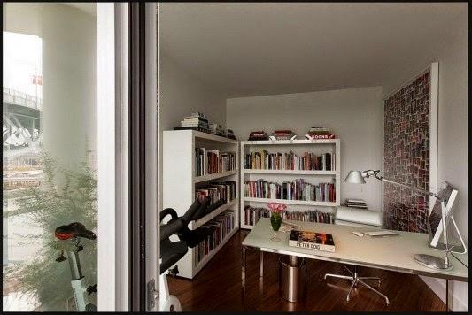 sofá cama Casa contemporânea com design feminino
