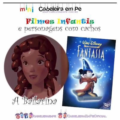 Bailarina de 'O soldadinho de chumbo' em Fantasia da Disney - Personagem de cabelo cacheado