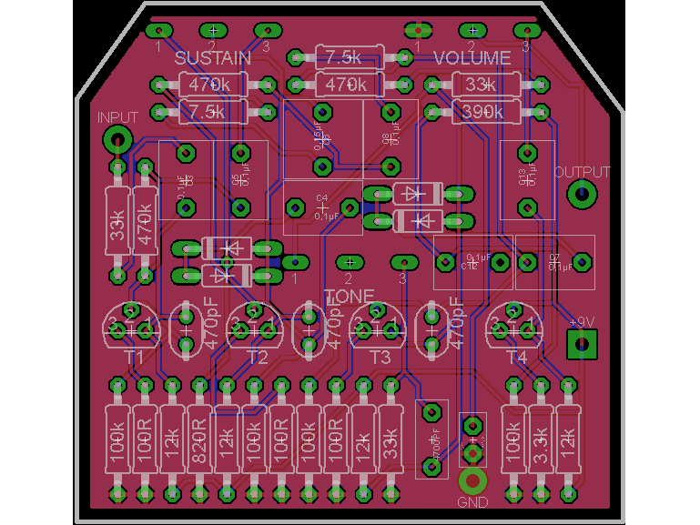 Big muff PCB schematic