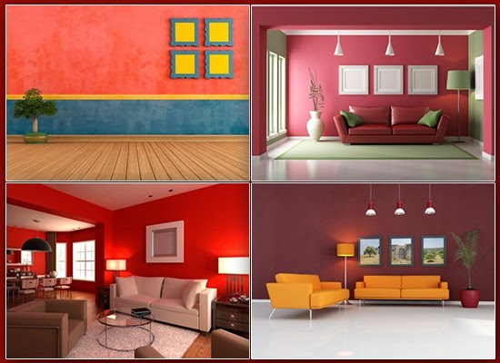 Red colored interiors
