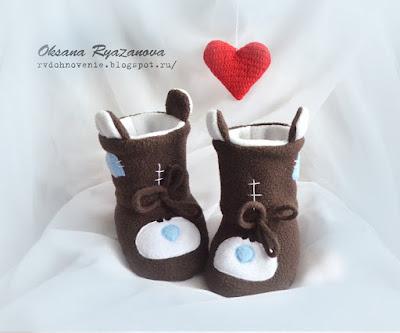 тапочки зайчики, пинетки для новорожденной, тапочки для малыша, обувь для новорожденного, тедди