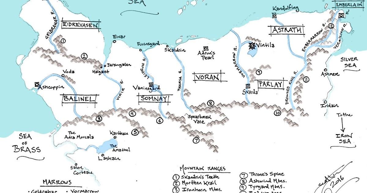 Scott Lynch unveils THORN OF EMBERLAIN map