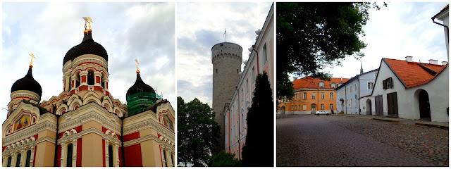 Toompea cathedral Tallinn Estonia Parliament streets