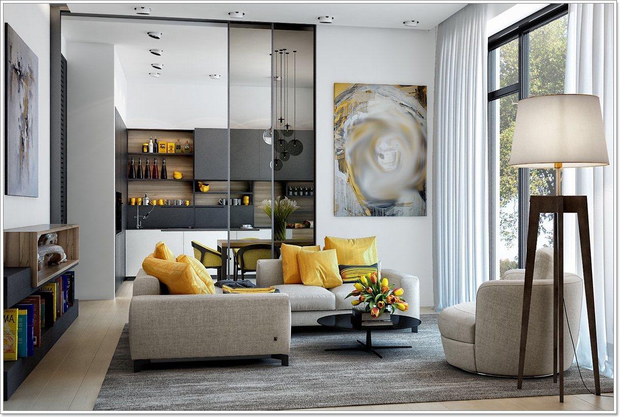 25 nydelig gult aksent stuer   interiør inspirasjon