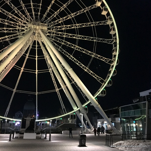 Montreal Observation Wheel/La Grande Roue glows white