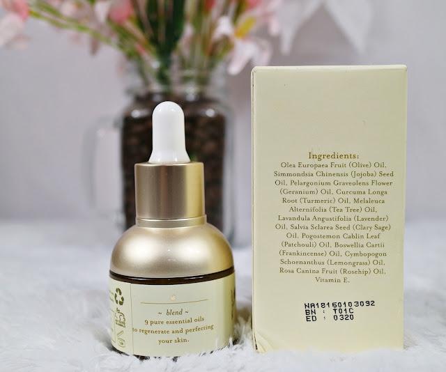 Ingredients BHUMI Facial Oil