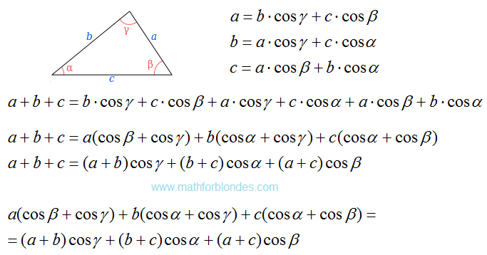 Mathematics For Blondes Law Of Cosines For Perimeter