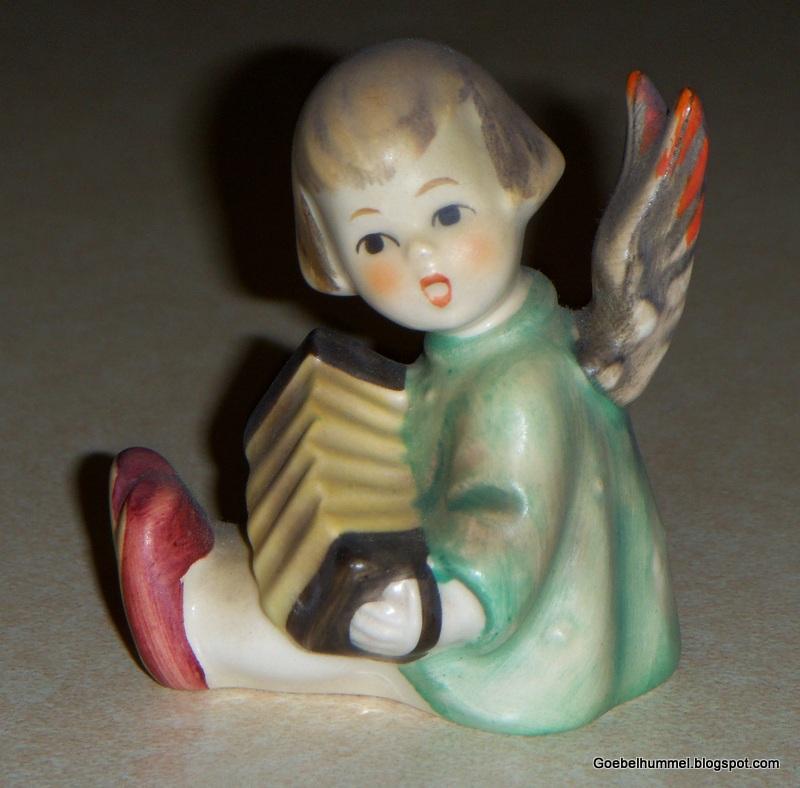 Goebel Hummel Angel With Accordion Hummel Figurine 238b Tmk4