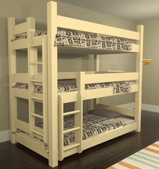 triple bunk bed travel trailer