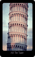 The Tower tarot card image