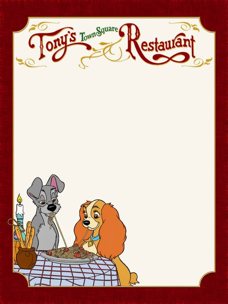 The Lady and the Tramp: Free Printable Notebook. - Oh My ...