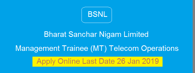 Opportunity@ BSNL Recruitment 2019
