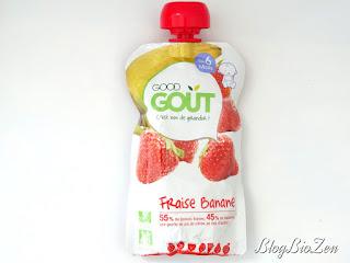 Gourde bio fraise/banane - Good Goût