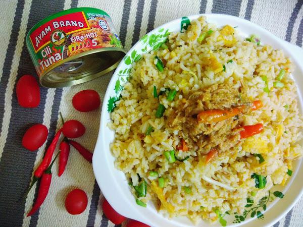 Resepi Nasi Goreng Tuna Pedas Berapi Ayam Brand.