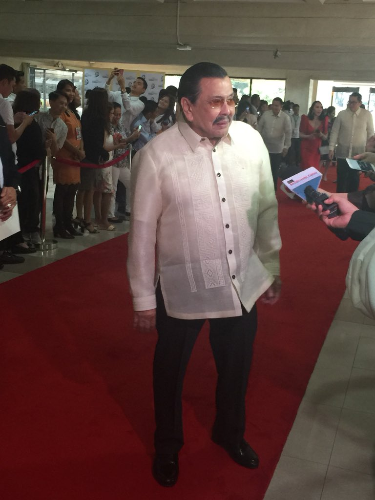Former Pres. Joseph Estrada arrived in Batasang Pambansa to attend SONA 2018