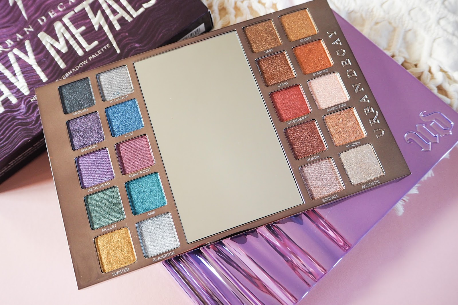 Urban Decay Heavy Metals Metallic Eyeshadow Palette Close Up
