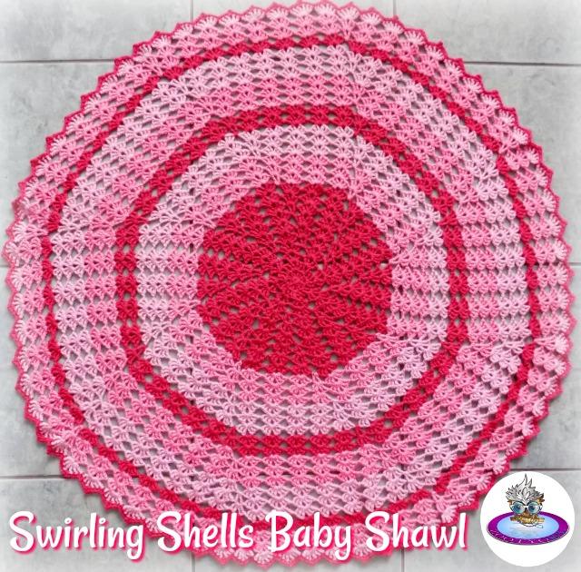 Zooty Owls Crafty Blog Swirling Shells Baby Blanket