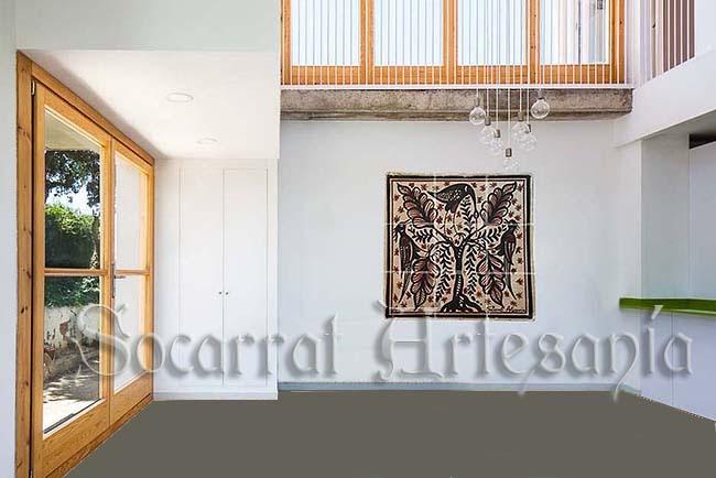 Recreación de mural en espacio moderno. Socarrat Artesanía. Camateu