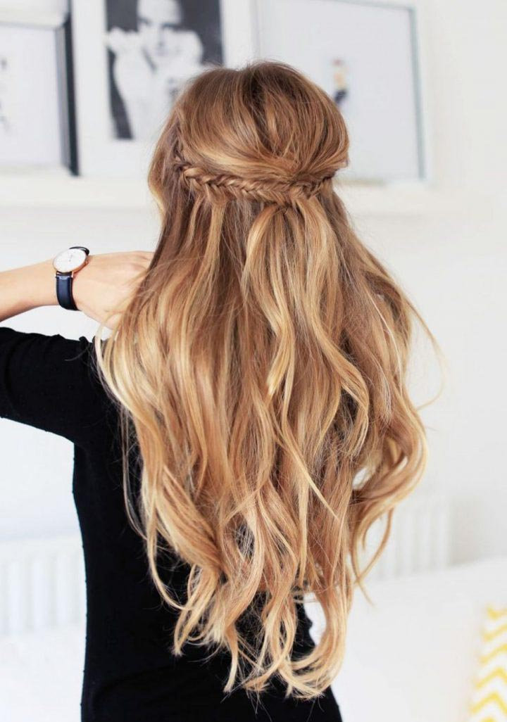 Frisur lange glatte dicke haare