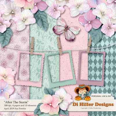 April Fan Freebie by Di Hiller