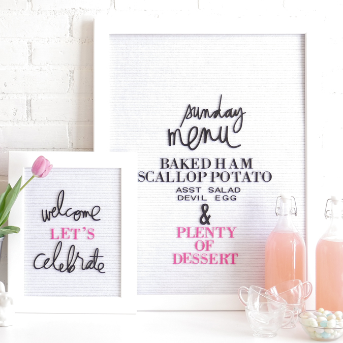 How to Decorate with Heidi Swapp Letterboard | Easter Table Decoration by Jamie Pate | @jamiepate